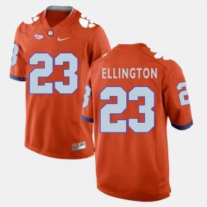 Men Orange College Football #23 Andre Ellington Clemson Jersey 122374-118