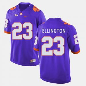 Purple Andre Ellington Clemson Jersey For Men #23 College Football 368027-592