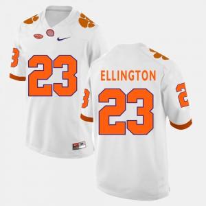 College Football White For Men's #23 Andre Ellington Clemson Jersey 306925-266