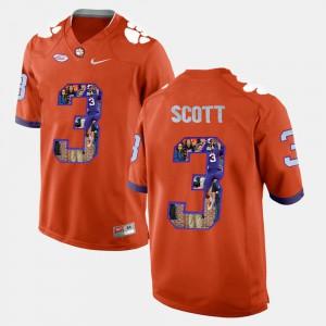 For Men's Orange Player Pictorial #3 Artavis Scott Clemson Jersey 382430-325
