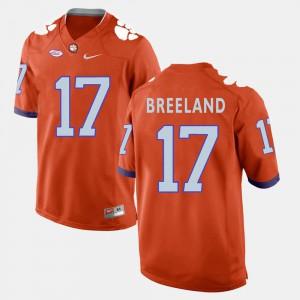 #17 Mens Bashaud Breeland Clemson Jersey Orange College Football 360416-490