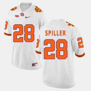 C.J. Spiller Clemson Jersey #28 For Men's White College Football 596042-720