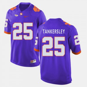 #25 For Men College Football Purple Cordrea Tankersley Clemson Jersey 232363-973