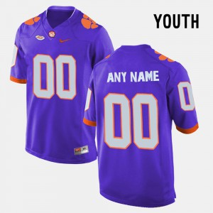 Youth Purple College Limited Football Clemson Customized Jerseys #00 527459-812