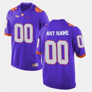 Clemson Custom Jerseys Purple Mens #00 College Limited Football 134368-115