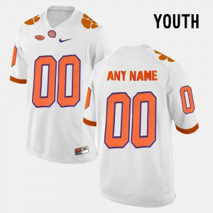 College Limited Football Clemson Custom Jerseys White Youth(Kids) #00 964483-773