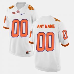 #00 College Limited Football For Men's Clemson Custom Jersey White 522321-182