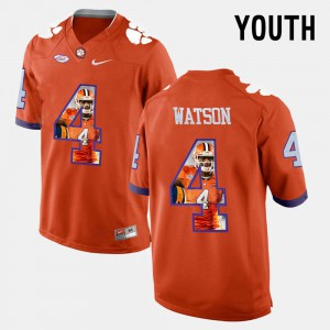 #4 Orange Youth Pictorial Fashion DeShaun Watson Clemson Jersey 401870-601