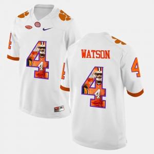 Pictorial Fashion White Men's #4 DeShaun Watson Clemson Jersey 723643-143
