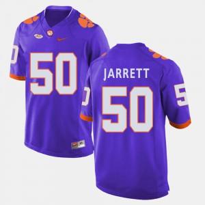 #50 Grady Jarrett Clemson Jersey Purple College Football Mens 643272-742