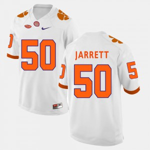 #50 Grady Jarrett Clemson Jersey White For Men College Football 414339-418