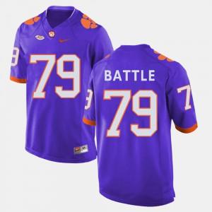 For Men College Football Isaiah Battle Clemson Jersey Purple #79 484927-760