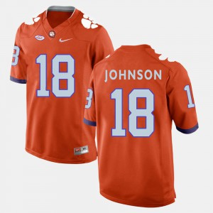 Orange #18 College Football For Men Jadar Johnson Clemson Jersey 177652-846