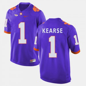 #1 Purple Jayron Kearse Clemson Jersey College Football For Men's 606865-462