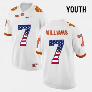 White Kids US Flag Fashion Mike Williams Clemson Jersey #7 821541-406