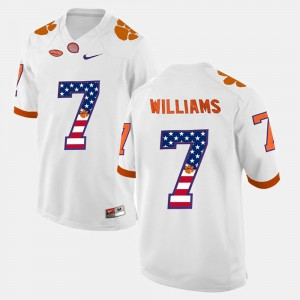 White #7 For Men US Flag Fashion Mike Williams Clemson Jersey 523720-317