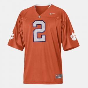 Orange For Men's #2 College Football Sammy Watkins Clemson Jersey 347726-298