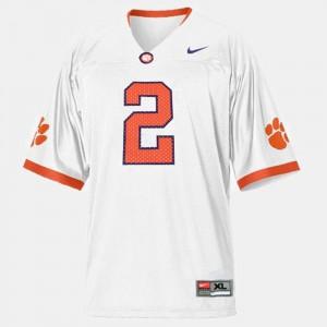 Youth #2 College Football White Sammy Watkins Clemson Jersey 773425-394