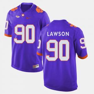 Purple Men's Shaq Lawson Clemson Jersey College Football #90 236737-773