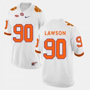 White Men Shaq Lawson Clemson Jersey College Football #90 927913-817