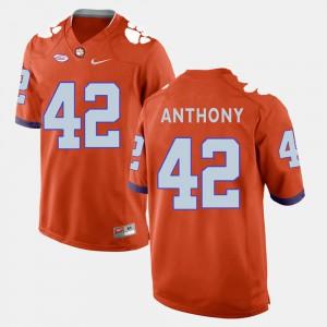 Orange For Men College Football #42 Stephone Anthony Clemson Jersey 428479-335