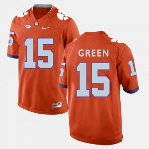 College Football #15 Orange For Men's T.J. Green Clemson Jersey 222950-582