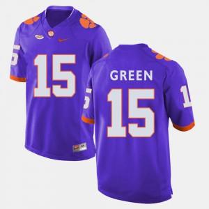 Purple T.J. Green Clemson Jersey For Men's College Football #15 145531-665