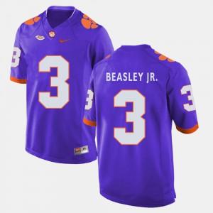 Purple Men Vic Beasley Jr. Clemson Jersey #3 College Football 392019-915
