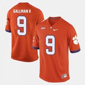 College Football Wayne Gallman II Clemson Jersey Orange #9 For Men's 736037-650