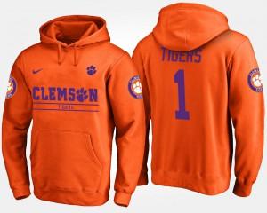 For Men's Orange #1 No.1 Clemson Hoodie 997277-421