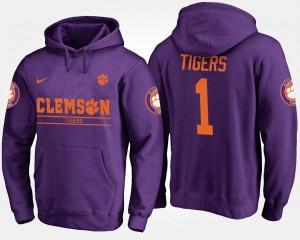 No.1 Purple Clemson Hoodie #1 Men's 506906-772