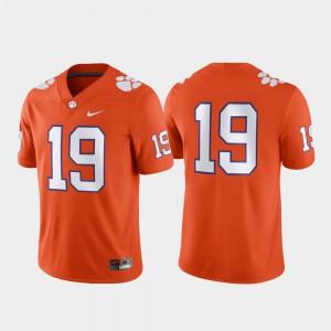 Game Men #19 Clemson Jersey Orange 181904-554