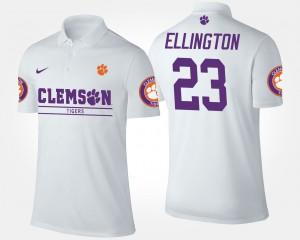 Men's Andre Ellington Clemson Polo White #23 617415-606