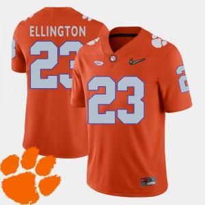 2018 ACC Andre Ellington Clemson Jersey Orange #23 College Football Mens 318105-765