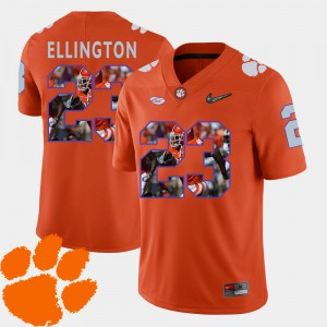 Andre Ellington Clemson Jersey #23 Football Men Pictorial Fashion Orange 131617-296