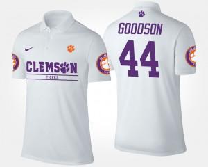 For Men's B.J. Goodson Clemson Polo White #44 149995-451