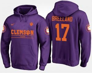 #17 Purple Men's Bashaud Breeland Clemson Hoodie 645218-226