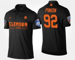 #92 Black Mens Bradley Pinion Clemson Polo Bowl Game Atlantic Coast Conference Sugar Bowl 848701-937