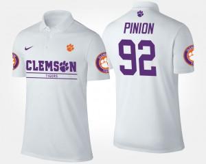 Bradley Pinion Clemson Polo For Men #92 White 577489-154