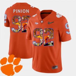 Orange Pictorial Fashion Men's Bradley Pinion Clemson Jersey #92 Football 446161-142