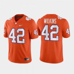 Orange For Men Game #42 Christian Wilkins Clemson Jersey Football 217697-504