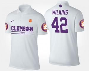 White #42 Christian Wilkins Clemson Polo For Men 279841-630