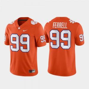 #99 Game Football For Men's Clelin Ferrell Clemson Jersey Orange 592772-277