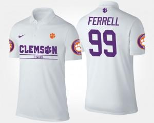 Mens White Clelin Ferrell Clemson Polo #99 819211-958