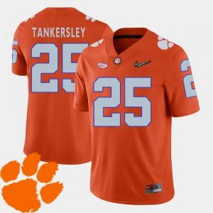 College Football Cordrea Tankersley Clemson Jersey #25 Mens Orange 2018 ACC 858149-582