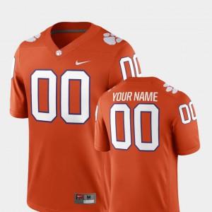 Orange #00 2018 Game College Football For Men Clemson Custom Jersey 807898-401