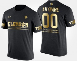 Gold Limited Clemson Customized T-Shirt Men's Black Short Sleeve With Message #00 787119-428