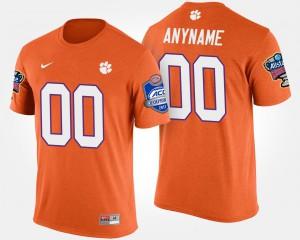 Bowl Game Clemson Custom T-Shirt Atlantic Coast Conference Sugar Bowl Men #00 Orange 830485-232