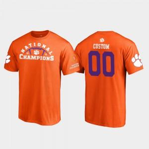 Orange Clemson Customized T-Shirt 2018 National Champions Pylon College Football Playoff #00 Mens 922985-592
