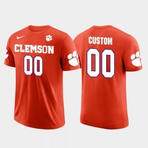 #00 Mens Orange Future Stars Clemson Custom T-Shirt Cotton Football 832988-724